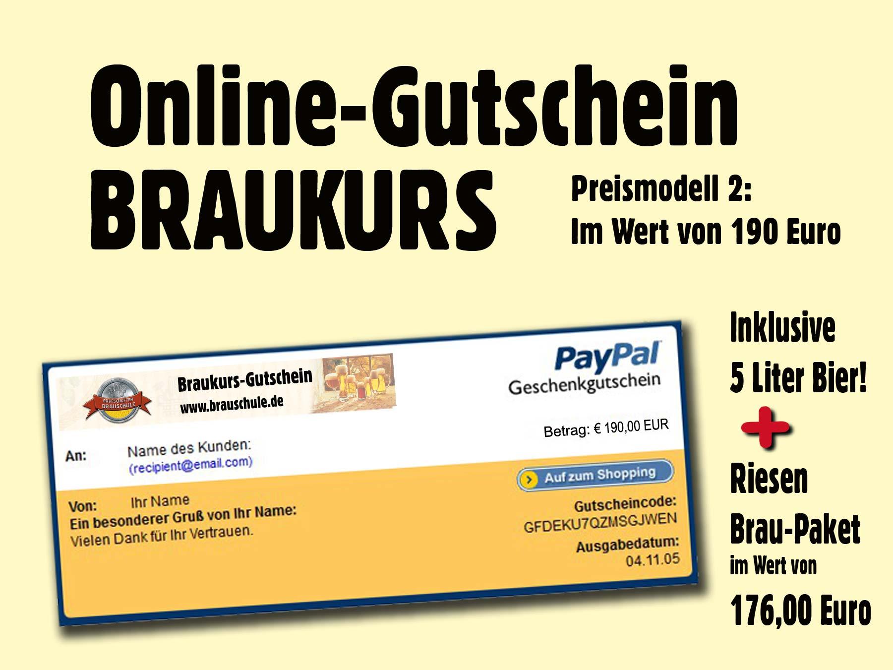 paypal online gutschein